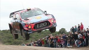 Espectacular salto de Thierry Neuville en Argentina