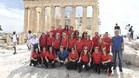 La expedición de la Agrupación ha visitado este viernes el Acrópolis