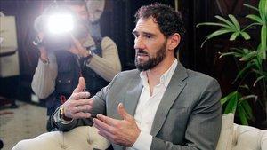 Jorge Garbajosa, presdente de la Federación Española de Baloncesto, la cual ha propuesto ascensos a la Liga Endesa.