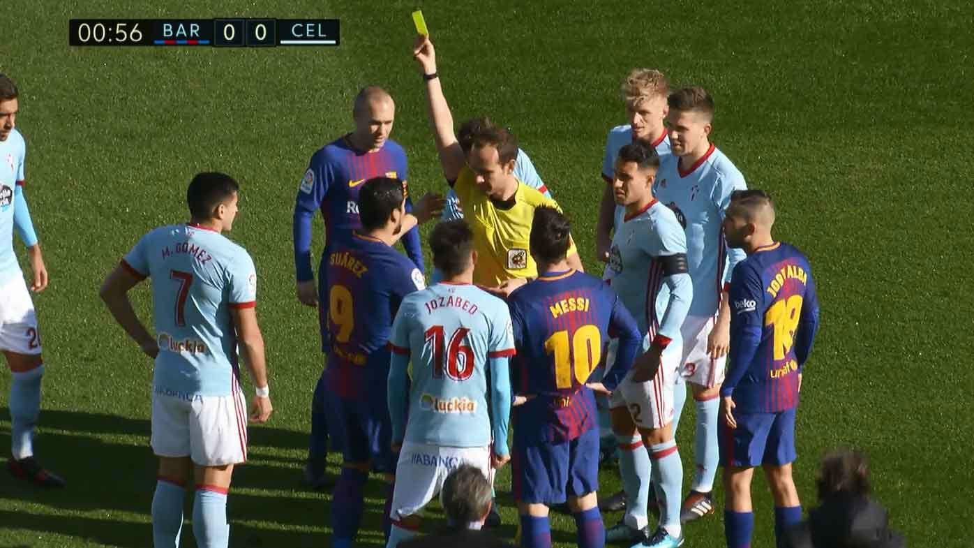 LALIGA | FC Barcelona - Celta (2-2): Lesión de Sergi Gómez y amarilla para Suárez