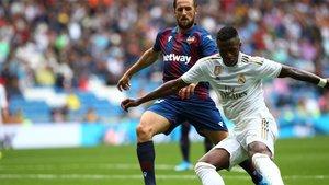 El Levante estuvo cerca de lograr el empate ante el Real Madrid durante la última fecha