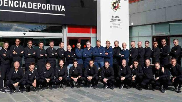 Los árbitros Elite de la UEFA se entrenaron en Las Rozas