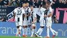 Los jugadores celebrando tras el gol de Mandzukic