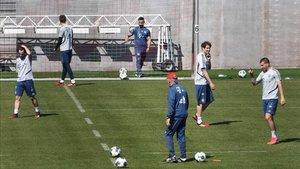 Los jugadores del Bayern regresaron a los terrenos de juego