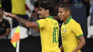 Lucas Paquetá abrió la goleada de Brasil ante Corea del Sur con el 10 a la espalda