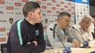 Ludovic Fabregas y Xavi Pascual, tras el Nantes - FC Barcelona