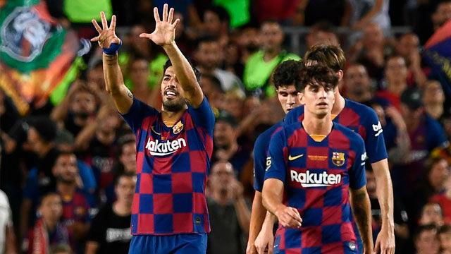 ¡Luis Suárez dio la victoria al Barça con un voleón!