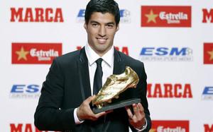 outlet(mk) zapatos genuinos garantía limitada Luis Suárez, Bota de Oro 2015 / 2016. La entrega, en directo