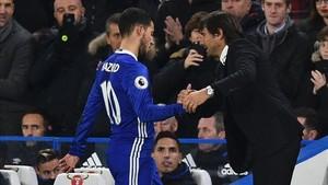 La mala relación entre Hazard y Conte dificulta el fichaje del belga