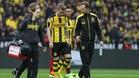 Marco Reus abandona el terreno de juego tras sufrir una lesión muscular en el muslo izquierdo