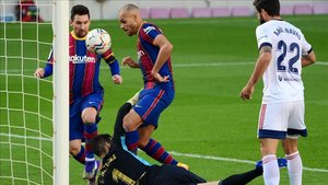 Martin Braithwaite ha abierto el marcador a favor del FC Barcelona ante Osasuna