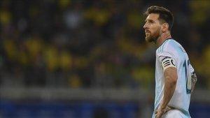 Messi durante la semifinal de la Copa América 2019 frente a Brasil