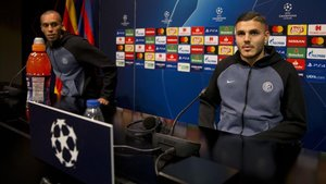 Miranda e Icardi, en la previa del Barça - Inter