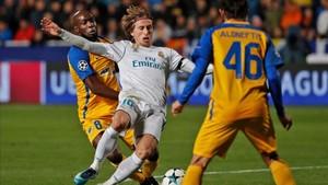 Modric abrió la lata ante el APOEL