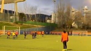 Monito Vidal, en su primer entrenamiento