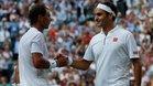 Nadal y Federer, en su último duelo en Wimbledon