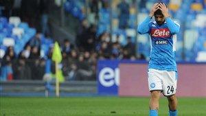 El Nápoles está cosechando sus peores resultados en la Serie A desde 2008