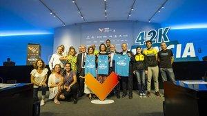 Presentada la camiseta oficial de la 39ª edición del maratón de Valencia