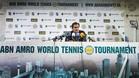 Roger Federer, durante su rueda de prensa en Rotterdam
