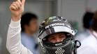 Rosberg celebra su pole en Suzuka
