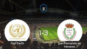 El San Fernando de Henares gana 1-3 al Flat Earth y se lleva los tres puntos