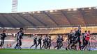 La selección belga entrenó el lunes en el Estadio Rey Balduino