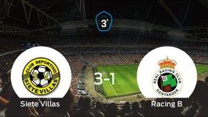 El Siete Villas vence 3-1 en casa al Racing B