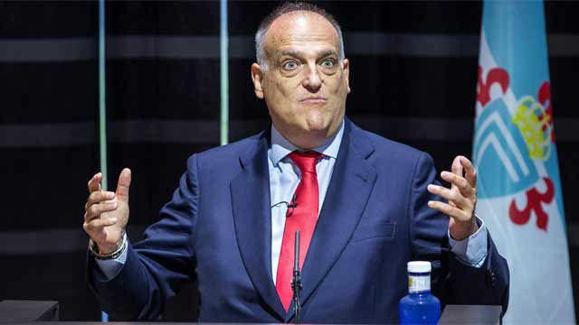 Tebas critica las ocurrencias de Rubiales por la nueva Supercopa y el partido de los lunes