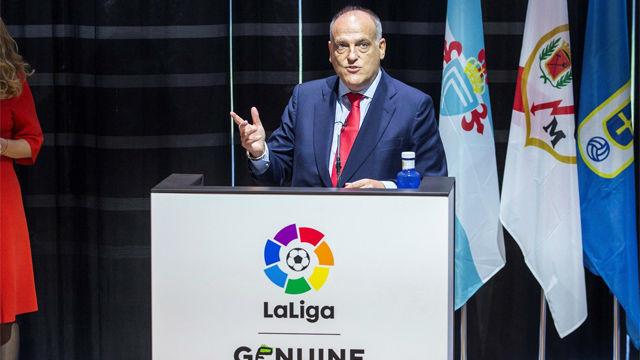 Tebas: Me gustaría que volvieran Neymar, Guardiola y Mourinho