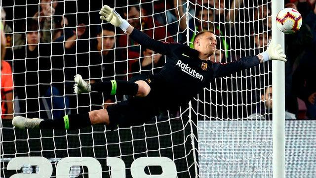 Ter Stegen volvió a aparecer para salvar al Barça