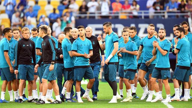 Último entrenamiento del Madrid antes de la final de Champions