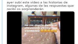 Una chica sube un video en el que aparece sin depilar y le llueven las críticas