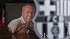 Una imagen del memorial dedicado a Johan Cruyff en el Camp Nou el pasado mes de marzo