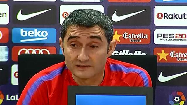 Valverde en la rueda de prensa previa a la visita del Atlético de Madrid