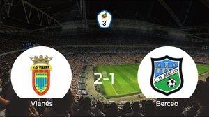 El Vianés consigue la victoria en casa frente al Berceo (2-1)