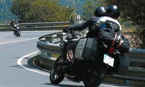 <BR/>Motoristas en la carretera de Tossa a Lloret de Mar.