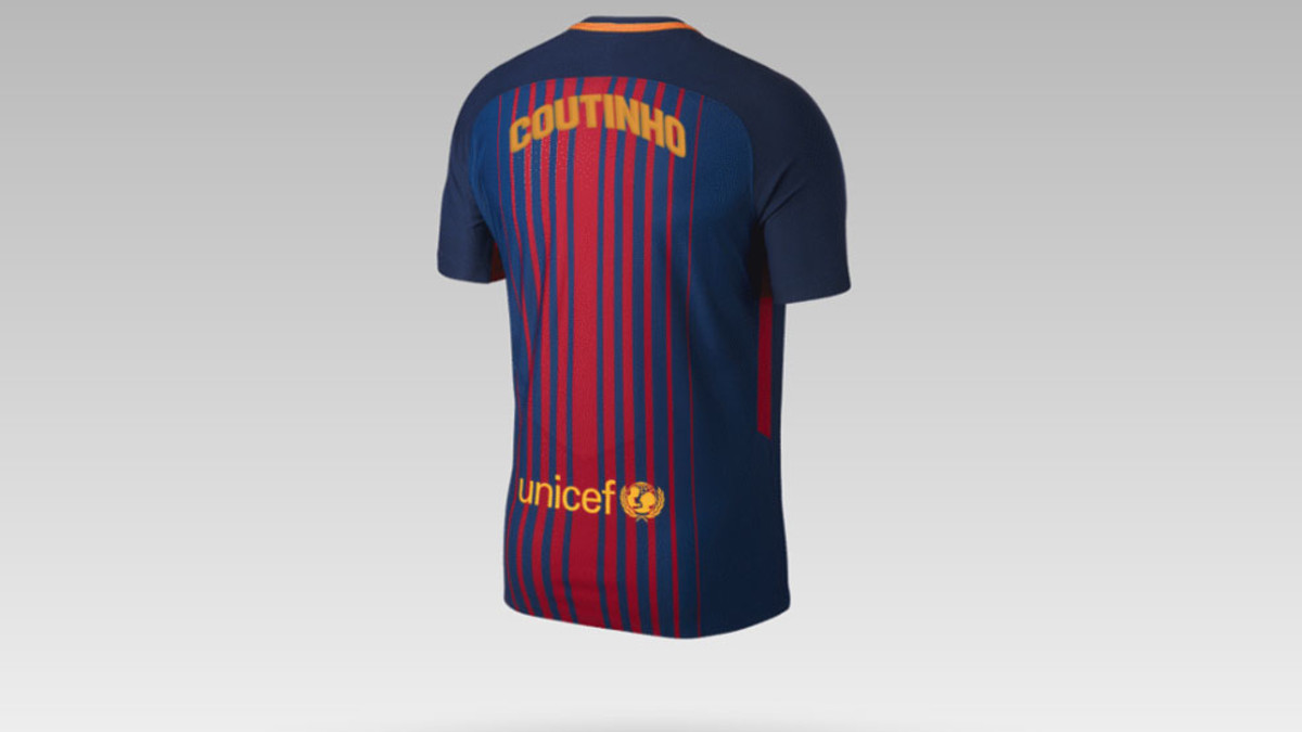 the best attitude 8ed62 b94d6 The two shirts Philippe Coutinho could wear at Barcelona