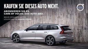 Cartel de Volvo en Alemania. No compres este coche.