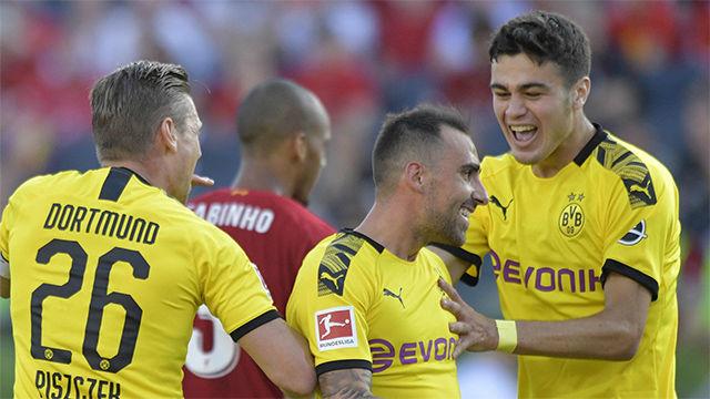 Alcácer sigue on fire: marcó el único tanto del Dortmund ante Unión Berlín
