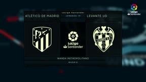 El Atlético ganó por la mínima al Levante