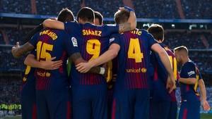El Barça ganó en el Bernabéu
