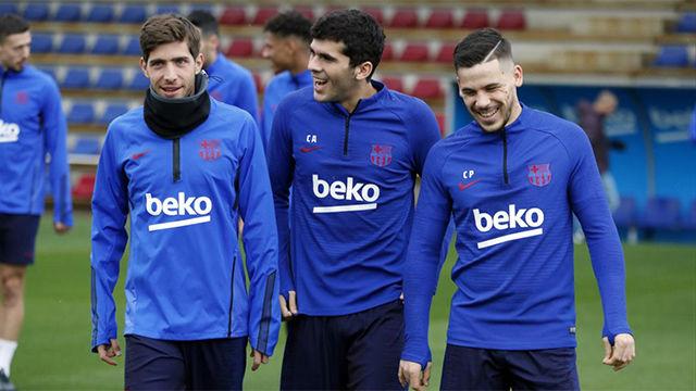 El Barça preparar su encuentro ante el Mallorca