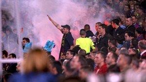 Detenidos 23 aficionados del FC Barcelona por incidentes en Sevilla