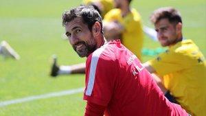 Diego López durante una sesión de entrenamiento