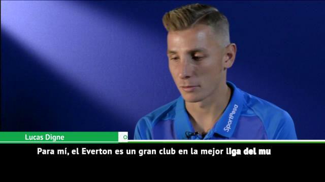 Digne, ilusionado con su nueva etapa en el Everton