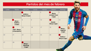 Calendario Del Barcelona.El Brutal Calendario De Febrero Del Fc Barcelona