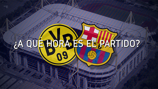 Horario mundial del Borussia Dortmund - FC Barcelona