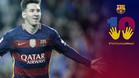 La imagen de la campaña lanzada por el FC Barcelona para apoyar a Leo Messi