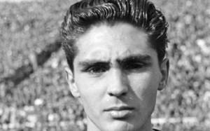 Jaume Peiró,el día de su debut en Les Corts contra el Racing de Santander (2-1) la temporada 1950-51