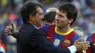 Joan Laporta y Leo Messi en una imagen de 2010